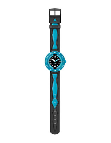 Flik Flak Youth Story Time Get It In Blue Analog Strap Watch-MULTI-One Size