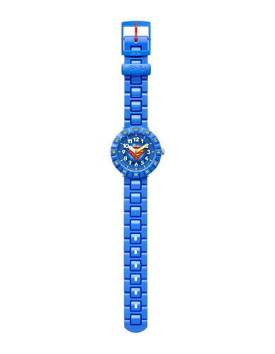 Flik Flak Youth Superman Friends and Heroes Analog Watch-MULTI-One Size