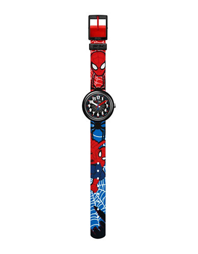 Flik Flak Youth Spiderman Analog Watch-MULTI-One Size