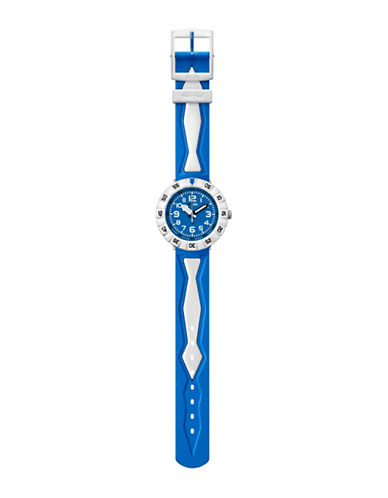 Flik Flak Youth Blubia Power Time Analog Watch-MULTI-One Size
