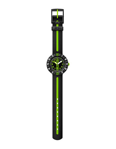 Flik Flak Green Ahead Unisex Analog Strap Watch-GREEN-One Size