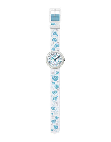 Flik Flak Coeur de Reve Standard Analog Strap Watch-WHITE-One Size