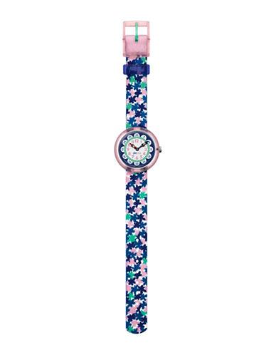 Flik Flak London Flower Analog Strap Watch-MULTI-One Size