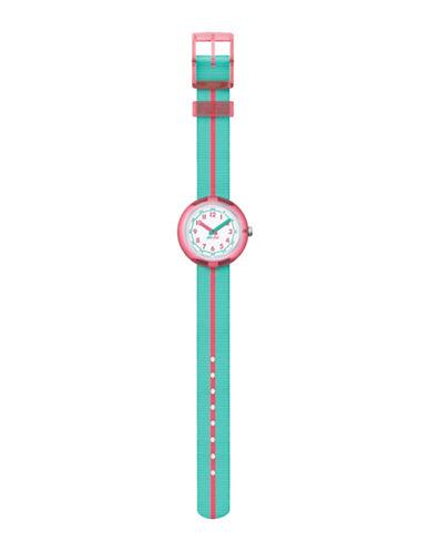 Flik Flak Pink Band Analog Strap Watch-BLUE-One Size