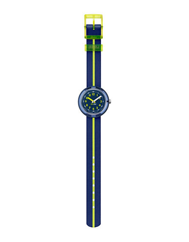Flik Flak Yellow Band Analog Strap Watch-BLUE-One Size