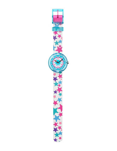 Flik Flak Tahtila Analog Strap Watch-BLUE-One Size