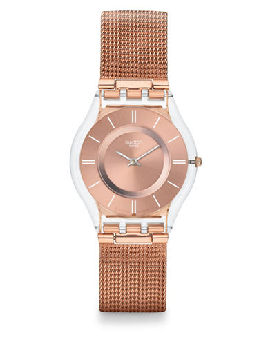 Swatch Hello Darling Stainless Steel Watch-ROSE GOLD-One Size