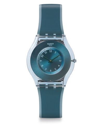 Swatch Dive-In Silicone Watch-TEAL-One Size