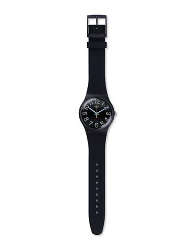 Swatch Unisex Analog Archi-Mix Secret Numbers Silicone Watch-BLACK-One Size