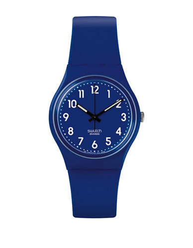 Swatch Core Collection Silicone Analog Watch-BLUE-One Size