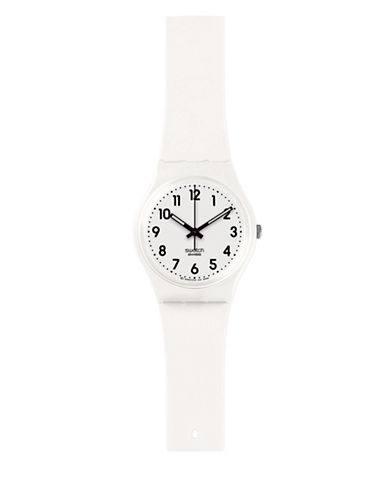 Swatch Core Collection Silicone Analog Watch-WHITE-One Size