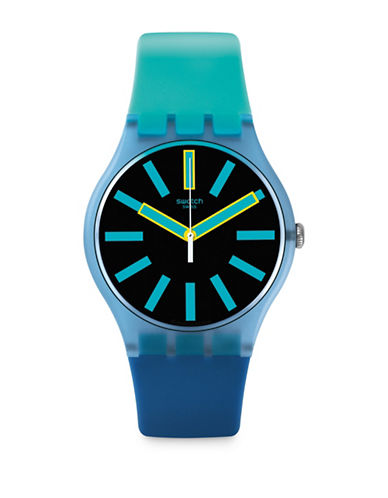 Swatch Action Heroes Collection Flash Wheel Analog Strap Watch-BLUE-One Size