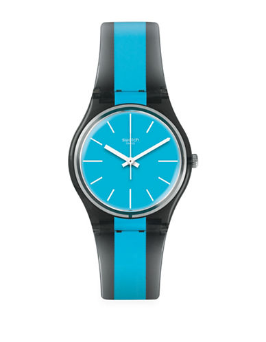 Swatch Action Heroes Collection Azzurrami Analog Strap Watch-BLUE-One Size