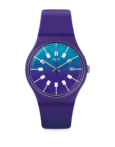 Swatch Action Heroes Collection Crazy Sky Analog Strap Watch-PURPLE-One Size