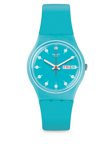 Swatch Action Heroes Collection Venice Beach Analog Strap Watch-BLUE-One Size