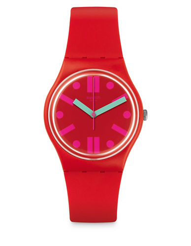 Swatch Action Heroes Collection Rossofino Analog Strap Watch-RED-One Size