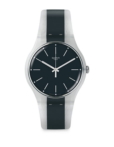 Swatch Action Heroes Collection Greyline Analog Strap Watch-GREY-One Size