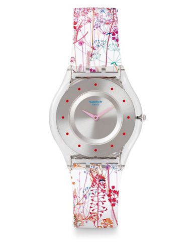 Swatch Floralia Jardin Fleuri Silicone Watch-MULTI-One Size