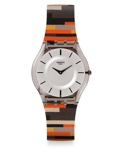 Swatch Patchwork Africana Fabric Strap Analog Watch-PATCHWORK-One Size