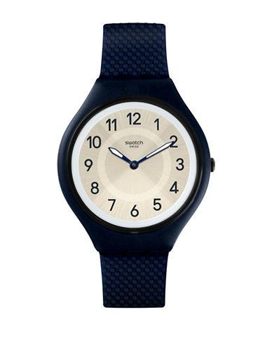Swatch Unisex Silicone Strap Analog Watch-BLUE-One Size
