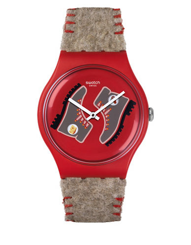 Swatch Analog Randonneur Synthetic Strap Watch-MULTI-One Size