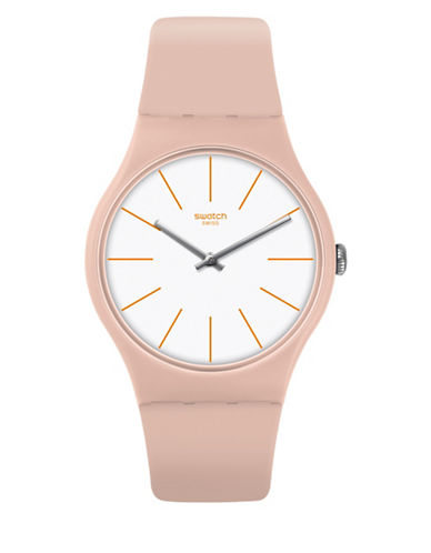 Swatch Analog Silicone Strap Watch-PINK-One Size