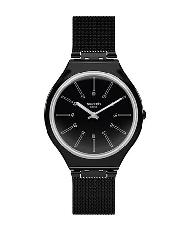 Swatch Skin Collection Skinotte Stainless Steel Watch-BLACK-One Size