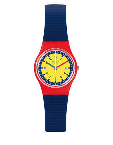 Swatch Colour Studio Collection Multi-Coloured Silicone Strap Watch-MULTI-One Size