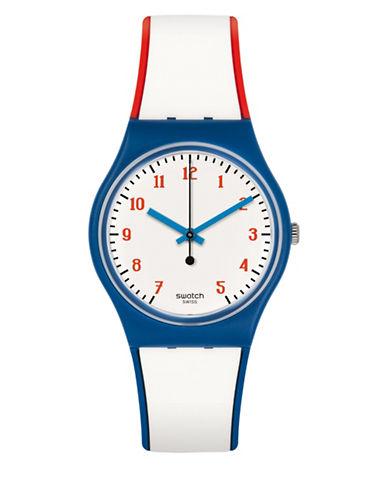 Swatch Analog Plein Gaz Silicone Strap Watch-MULTI-One Size
