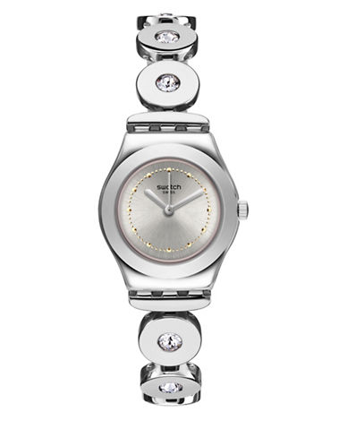 Swatch Time to Swatch Collection Inspirance Stainless Steel Bracelet Watch-SILVER-One Size
