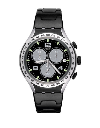 Swatch Colour Studio Collection Night Attack Aluminum Anodization Bracelet Watch-BLACK-One Size