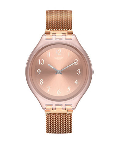 Swatch Skin Collection Skinchic Stainless Steel Milanese Bracelet Watch-ROSE GOLD-One Size