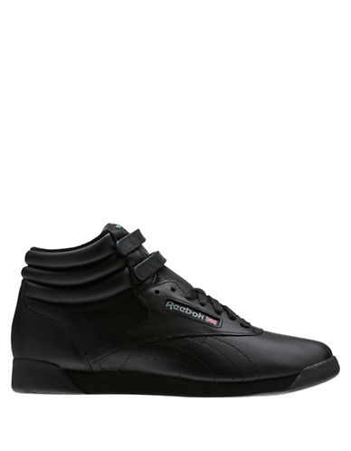 Reebok Freestyle Leather Sneakers-BLACK-7 89864114_BLACK_7