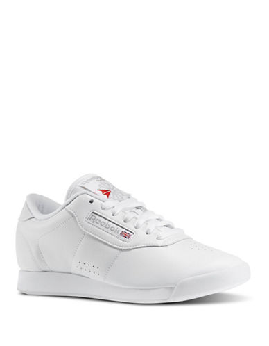Reebok Womens Princess Leather Sneakers-WHITE-5