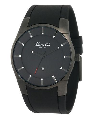 Kenneth Cole New York Men's Super-Sleek Analog Watch-BLACK-One Size