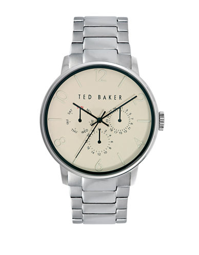 Ted Baker London Mens Silver Tone Multifunction Watch 10023494-SILVER-One Size