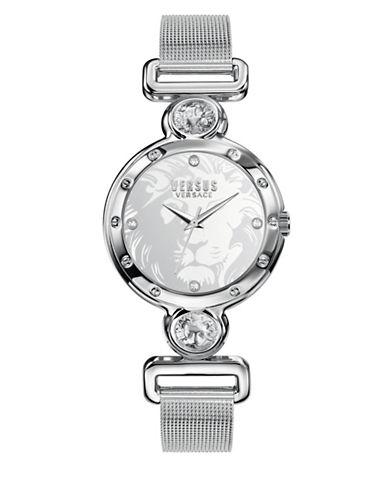 Versus Versace Sunnyridge Silvertone Stainless Steel Mesh Bracelet Analog Watch-SILVER-One Size