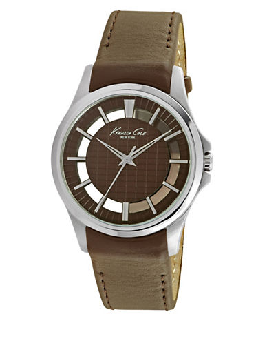 Kenneth Cole New York 10022289 Analog Watch-BROWN-One Size