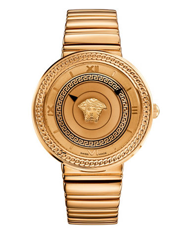 Versace V-Metal Icon Analog Rose Goldtone Bracelet Watch-ROSE GOLD-One Size