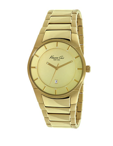 Kenneth Cole New York Analog Goldtone Stainless Steel Bracelet Watch-GOLD-One Size