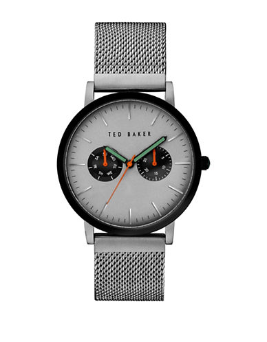 Ted Baker London 10031187 Analog Mesh Strap Watch-SILVER-One Size