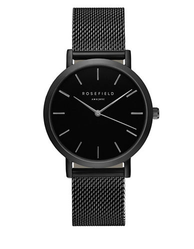 Rosefield The Mercer Analog Black Ion-Plated Watch-BLACK-One Size