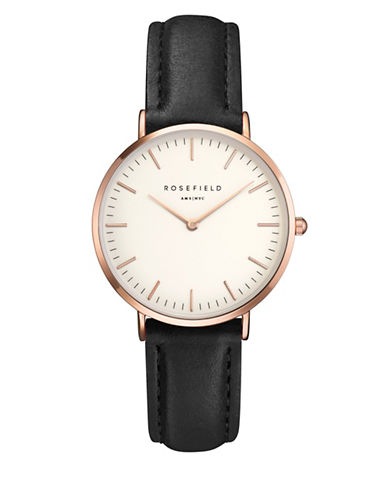Rosefield The Tribeca Analog Rose Goldtone Leather Strap Watch-PINK-One Size