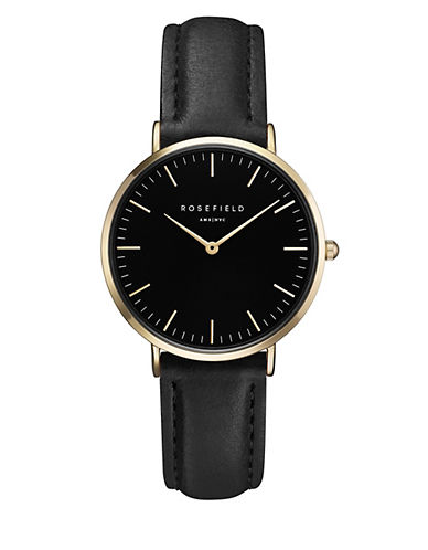 Rosefield The Tribeca Analog Goldtone Leather Strap Watch-GOLD-One Size