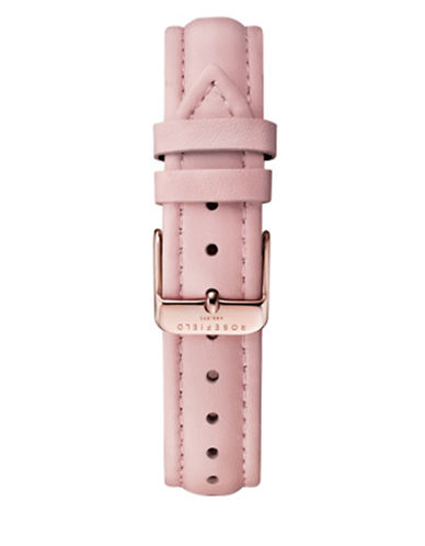 Rosefield Stitched Leather Watch Strap-PINK-One Size