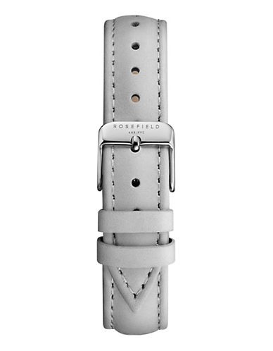 Rosefield Stitched Leather Watch Strap-GREY-One Size