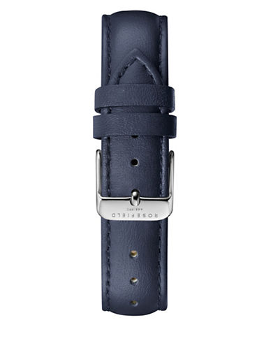 Rosefield Stitched Leather Watch Strap-BLUE-One Size
