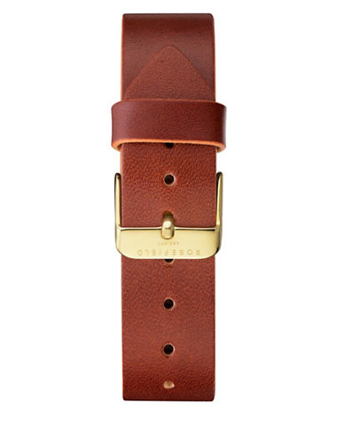 Rosefield Clean Cut Leather Watch Strap-BROWN-One Size