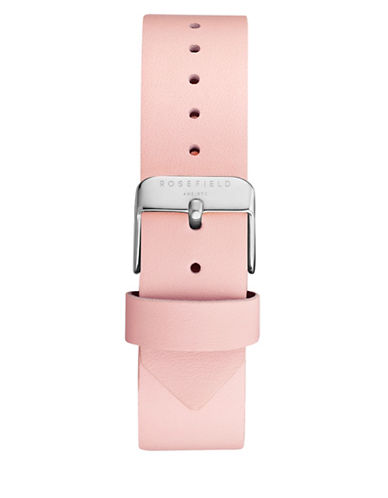 Rosefield Clean-Cut Leather Watch Strap-PINK-One Size