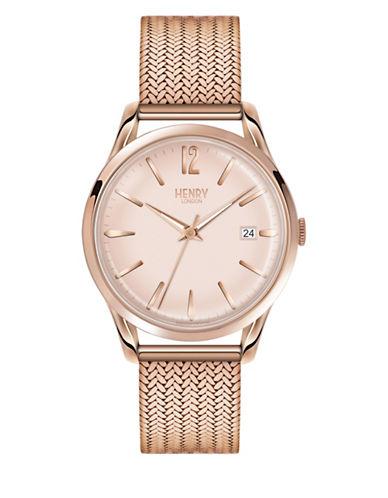 Henry London Analog Shoreditch Rose-Goldtone Bracelet Watch-PINK-One Size